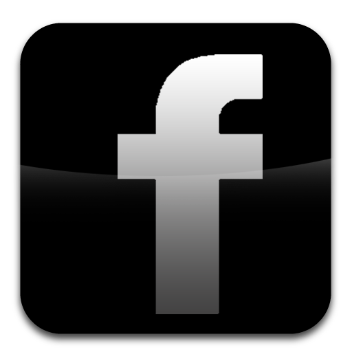 facebook logo gray